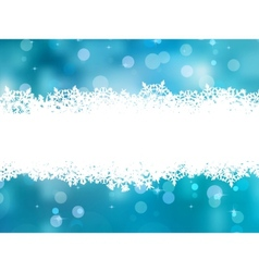 Christmas snowflake border vector