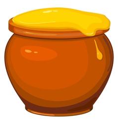 Cartoon pot of honey vector