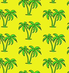 Seamless palm tree pattern vector