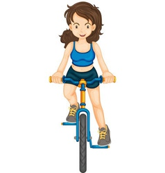 Fitness girl vector