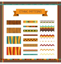 African ethnic seamless ornaments and pattern vector