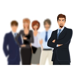 Businessman with team vector