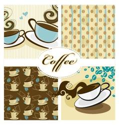 Coffee design set vector
