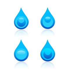 Water drop icons vector