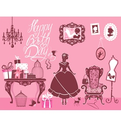 Girl room birthday 380 vector