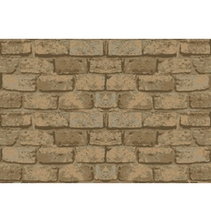 Old brick wall pattern vector