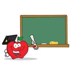 Royalty free rf clipart graduate apple character vector