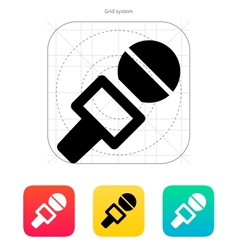 Journalist microphone icon vector