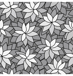 Abstract leaf plant seamless monochrome background vector