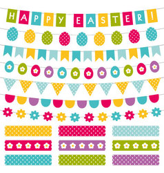 Easter decoration set vector