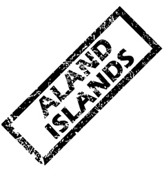 Aland islands rubber stamp vector