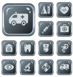 Medical buttons vector