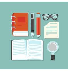 Reading and education concept vector