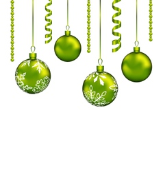 Christmas balls with streamer and copy space for vector