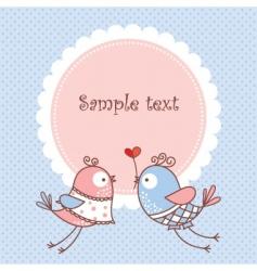 Romantic card vector