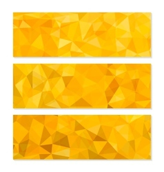 Set of abstract geometric polygonal backgrounds vector