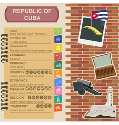Cuba infographics statistical data sights vector