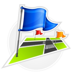 Road gps flag symbol vector