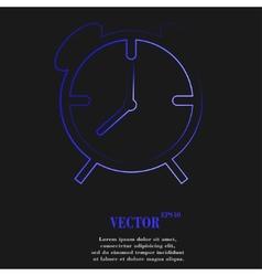 Alarm clock icon symbol flat modern web design vector