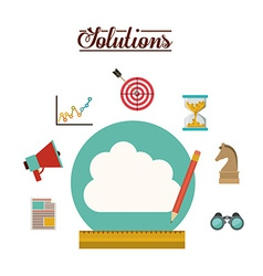 Solution icons design vector