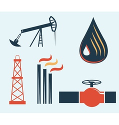 Oil and gas industry vector