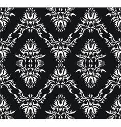 Damask victorian pattern vector