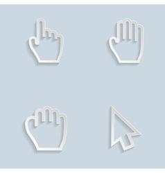Paper hand cursors vector