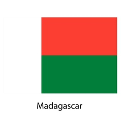 Flag of the country madagascar vector