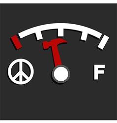 Oil empty meter vector