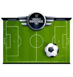 Grunge soccer field vector