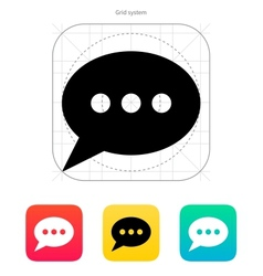Oval bubble icon vector