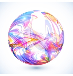 Abstract colorful sphere on white background vector
