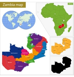 Zambia map vector