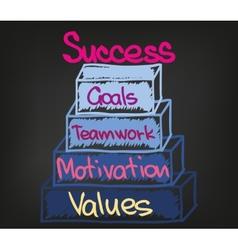Success chart vector
