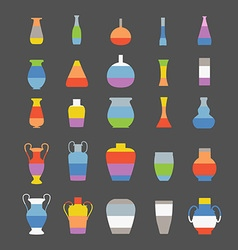 Different slyle of vases set vector