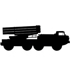 Missile launcher silhouette vector