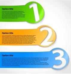 Paper progress option stickers vector