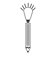 Pen ideas icon vector