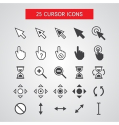 Cursor icons set vector