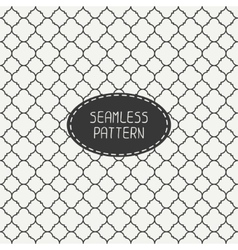 Geometric monochrome lattice seamless arabic vector