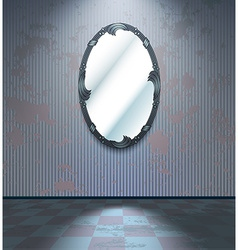 Cold room with mirror vector