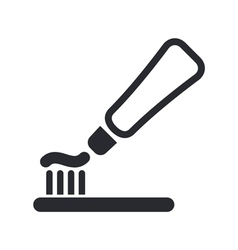 Toothpaste icon vector
