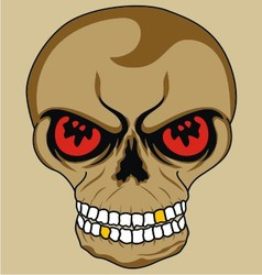 Isolate skull vector