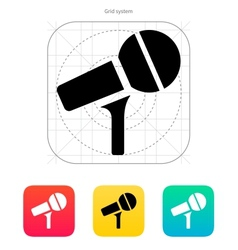 Microphone on stand icon vector