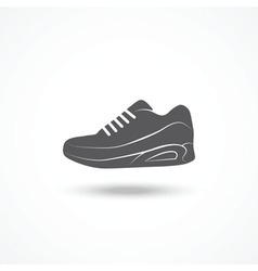 Running shoe icon vector