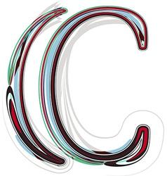 Font letter c vector