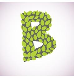 Letter like a bush vector