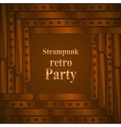 Steampunk retro partyframe vector