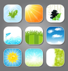 Set various backgrounds for the app icons vector