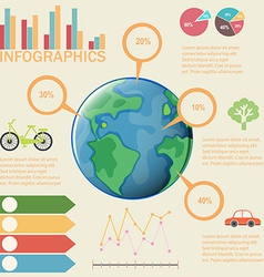 A colourful infographics vector